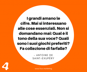 FOUR.MARKETING - ANTOINE DE SAINT EXUPERY
