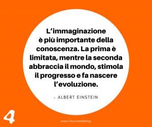 FOUR.MARKETING - ALBERT EINSTEIN